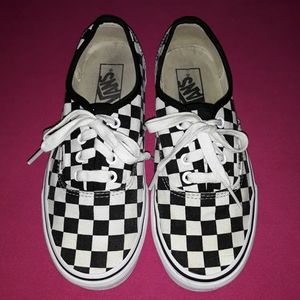 Checkered Vans Sneakers